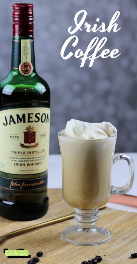 Recipe for Irish coffee. A delicious coffee cocktail recipe using Irish whiskey. - Recipe for Irish coffee. A delicious coffee cocktail recipe using Irish whiskey. Enjoy this warm co - Irish Cocktails, Warm Cocktails, Coffee Cocktails, Liquor Drinks, Jameson Whiskey Drinks, Jameson Irish Whiskey, Scotch Whiskey, Bourbon Drinks, Whiskey And Coffee Recipe