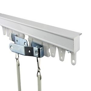 Rod Desyne Commercial Ceiling White 72 Inch Curtain Track Kit Tk6c