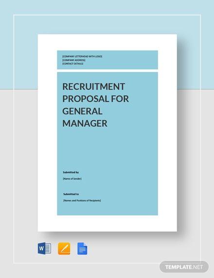 Recruitment Proposal Proposal Templates Recruitment Business