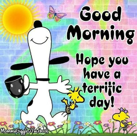 Snoopy Coffee Terrific Day Quote