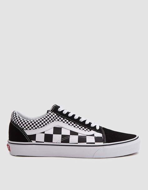 Old Skool Sneaker in Black White Checker | Shoes in 2019