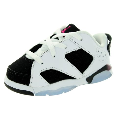 Nike Jordan Toddlers Jordan 6 /Sport Fuchsia/Black Retro Low Gt Basketball Shoe