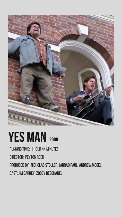 yes man minimalist movie poster