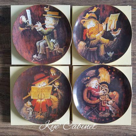 Schmid The Music Makers By Juan Ferrandiz Etsy Porcelain Plates Maker Plates