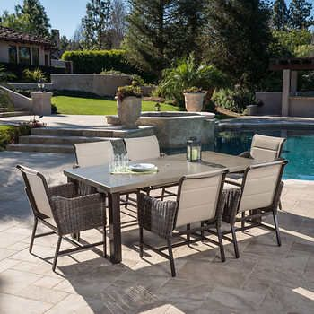 Brandemore 7 Piece Dining Set By, Mission Hills Patio Furniture