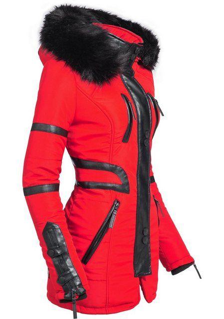 Winter Fur Faux Hood Adele Ladies Navahoo Black Jacket With 6Yf7vbgy