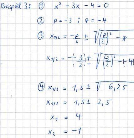 Pq Formel Fur Quadratische Gleichungen Gleichungen Tagliches Mathematik Quadratische Funktion