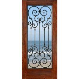 Fd1lmontecarlo Mahogany Monte Carlo 1 3 4 Exterior Entry Doors Double Doors Exterior Wood Doors