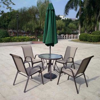 Outdoor Table Chair With Umbrella Parasol With Images