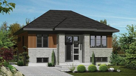Contemporary Style House Plan 3 Beds 1 Baths 1088 Sq Ft Plan 25 4270 Modern Floor Plans Contemporary Style Homes House Plans