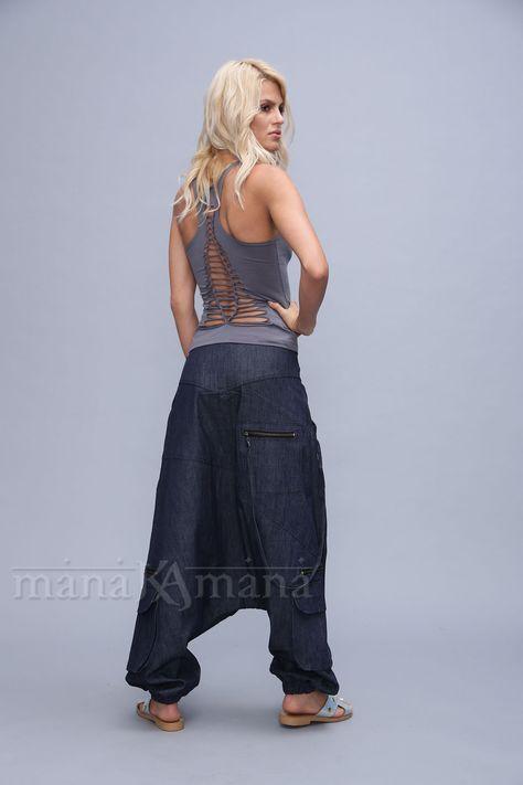 DONNA ALI BABA Harem pantaloni leggings donna largo ALADINO BOHO HIPPY