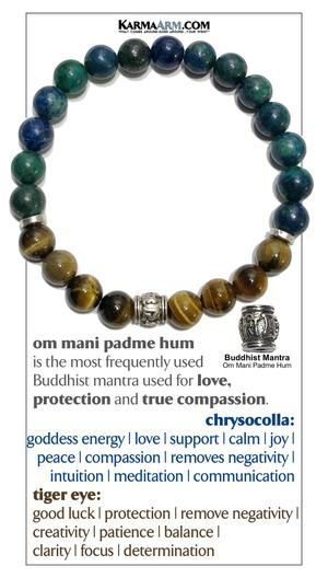 KarmaArm Womens Spiritual Bracelets Beaded Meditation Stretch Mantra Reiki Healing Energy Boho Chakra Wrap Yoga Jewelry /& Gemstone Mens Gifts Calm Howlite Cross Gifts for Her Tigerskin Jasper