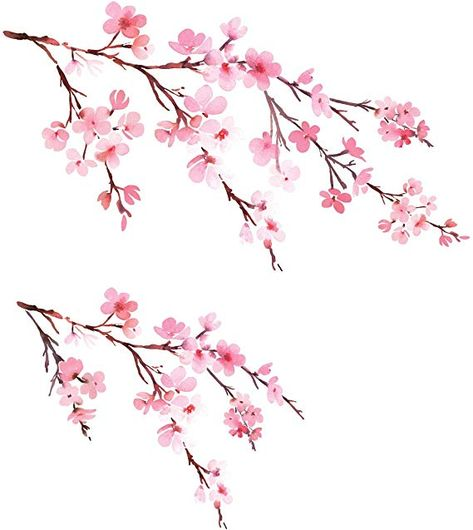 Decowall Watercolor Cherry Blossoms Kids Wall Stickers Wall Decals Peel and Stick Removable Wall Stickers for Kids Nursery Bedroom Living Room Cherry Blossom Drawing, Cherry Blossom Wallpaper, Cherry Blossom Watercolor, Watercolor Flowers, Cherry Blossom Tattoos, Cherry Blossom Nursery, Tree Wall Painting, Tree Wall Murals, Blossom Trees