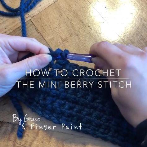 How to Crochet the Mini Berry Stitch #Berry #Crochet #Mini #Stitch
