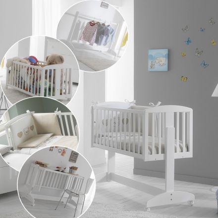 Multifunktions Baby Mobel Emmi Emmi Ist 5 In 1 Beistellbett Babywiege Spielzeugbox Kleiderstange Schreibtisch Beistellbett Beistellbett Baby Babybett