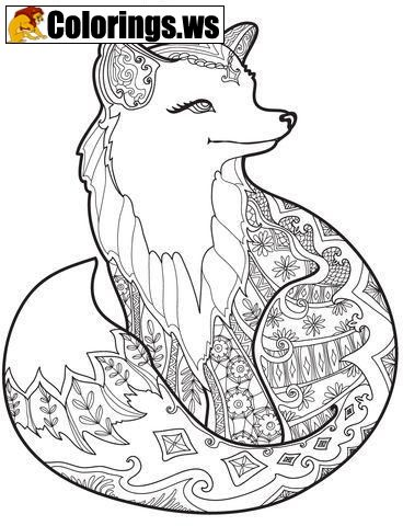 Fox Animal Mandala Coloring Pages Mandala Coloring Pages Another Point In The Mandala Meanin Fox Coloring Page Mandala Coloring Pages Animal Coloring Pages