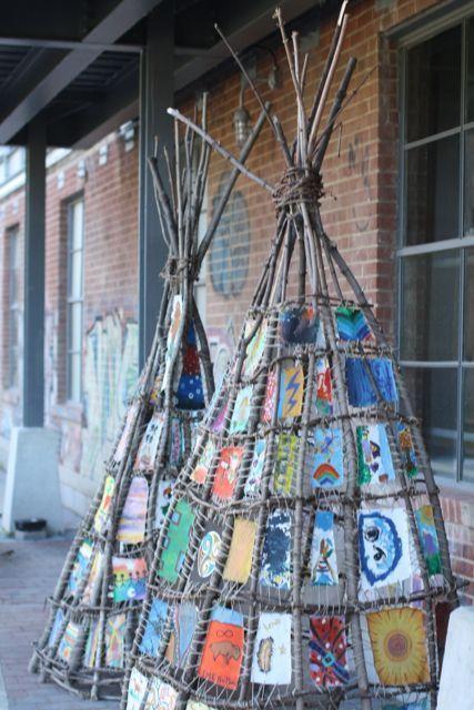Stick Art Tipi Tipi Naturehut Kunsthandwerk Kollaborative Kunst Kunststunden