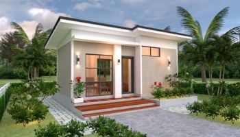House Plans 7x6 With One Bedroom Shed Roof Tiny House Design 3d In 2020 Small House Design Plans Best Small House Designs Small House Design