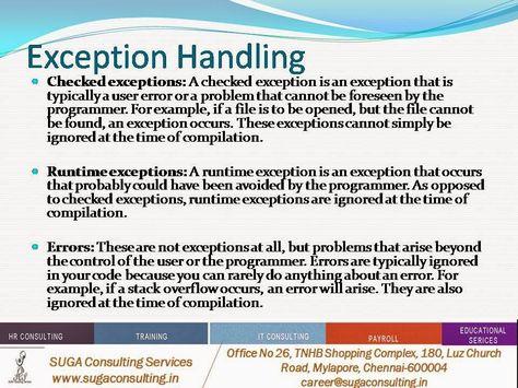 Suga Java Training Exception Handling Handle Java