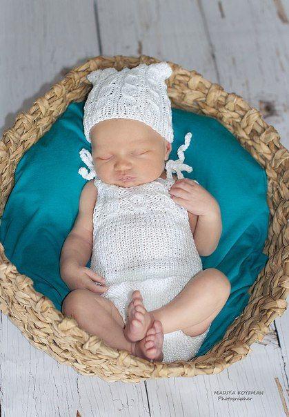 Newborn photo props cotton romper newborn romper от kidsphotoprops