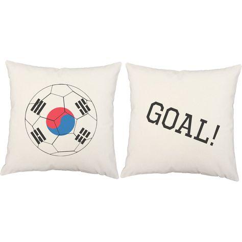 Korean Flag Soccer Ball Throw Pillows