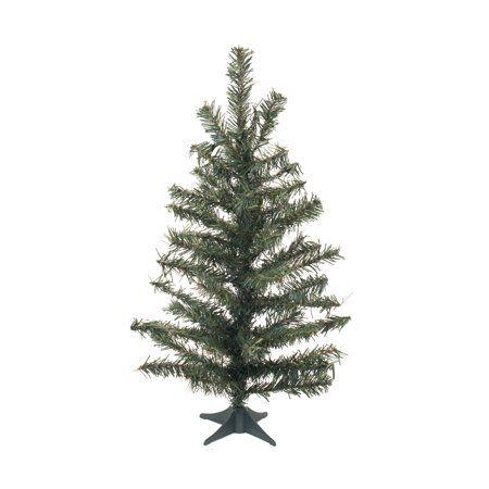 Vickerman Artificial Christmas Tree 18 Canadian Pine Tree 42 Tips Plastic Stand Walmart Com Artificial Christmas Tree Potted Trees Artificial Tree