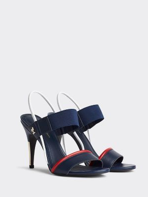 Transparent Stiletto Sandal Tommy Hilfiger Tommy Hilfiger Heels Stiletto Sandals Leather Heels