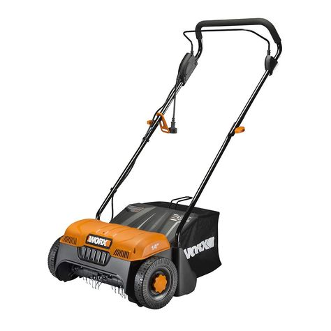 Worx Wg850 12 Amp 14 Corded Electric Dethatcher Click Image To Review More Details It Is An Affiliate Link To Amazon In 2020 Dethatching Bags Dead Grass