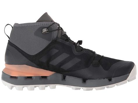 57d14a2dc6071 adidas Outdoor Terrex Fast Mid GTX(r) Surround Women s Hiking Boots Black Grey  Five Chalk Coral