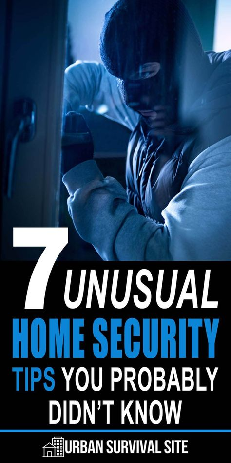 7 Unusual Home Security Tips You Probably Didn't Know - A burglar who tries hard enough may find a way around the standard home security measures. In case that happens, here are some unusual home security tips. Home Security Tips, Security Cameras For Home, Safety And Security, Home Security Systems, Personal Security, Security Service, Wall E, Best Hacks, Home Safety Tips