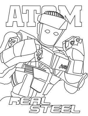 Real Steel Coloring Pages Coloring Pages Real Steel Coloring Pages For Boys