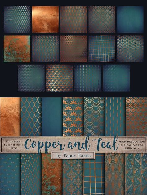 teal home accents Copper teal backgrounds teal home accents