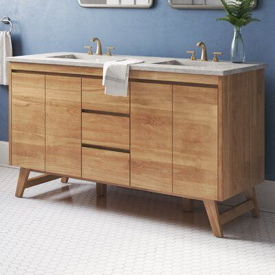 Langley Street Fiona 60 Double Bathroom Vanity Base Only Base