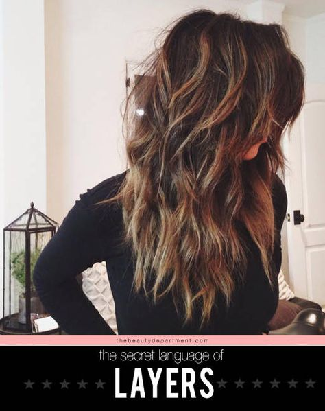 What different types of layers mean.... How to ask your stylist for the haircut you want.