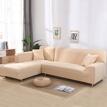 All Cover Sectional Sofa L Shape 2pcs Slipcover Elastic Washable Couch Cover 2seater 55 To 74i In 2020 Corner Sofa Covers Corner Sectional Sofa Sectional Sofa Couch