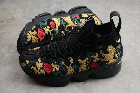"c013bead620 2018 KITH x Nike LeBron 15 ""Closing Ceremony"" Black-Multi-Color in ..."