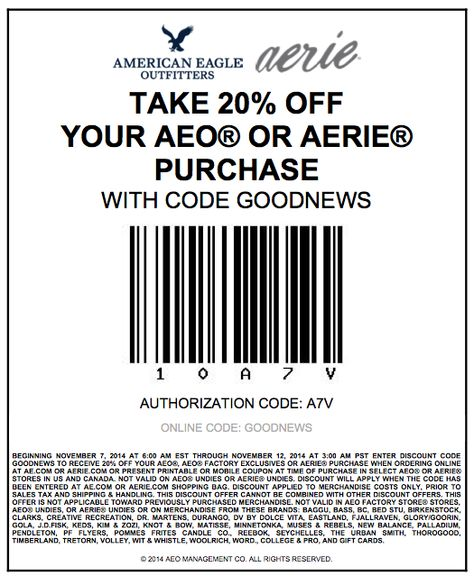 image about American Eagle Coupons Printable titled Pinterest