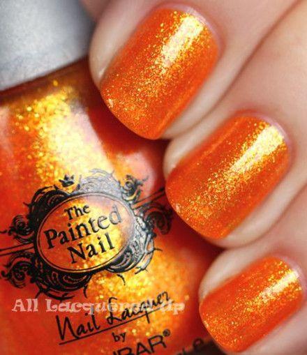 60 Ideas For Nails Orange Glitter Sparkle Orange Nails Nail Designs Glitter Sparkle Nail Polish