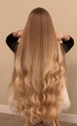 Video Alena S Long Healthy Curls Curls For Long Hair Thick Hair Styles Very Long Hair