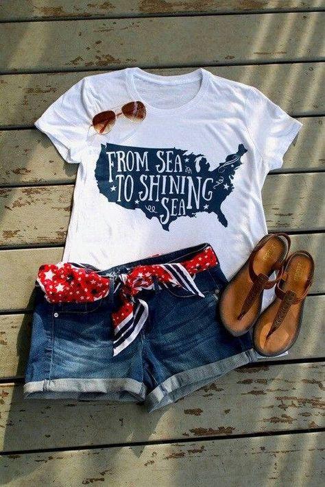 Patriotic/ Fourth of July Shirt by KellysKreativeKuts on Etsy