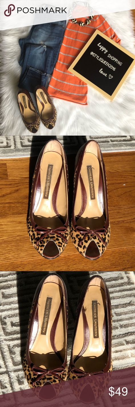 1660687836 Chinese Laundry leopard Print Calf Hair Peep Toe Chinese Laundry leopard  Print Calf Hair Peep Toe Wedge Heels. Wedge makes a bold statement with its  curvy ...
