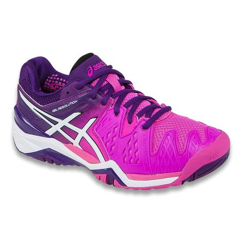 tenis asics resolution 6 feminino negro