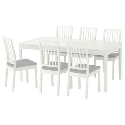 Ingatorp Ingatorp Table And 4 Chairs White 61 155 Cm