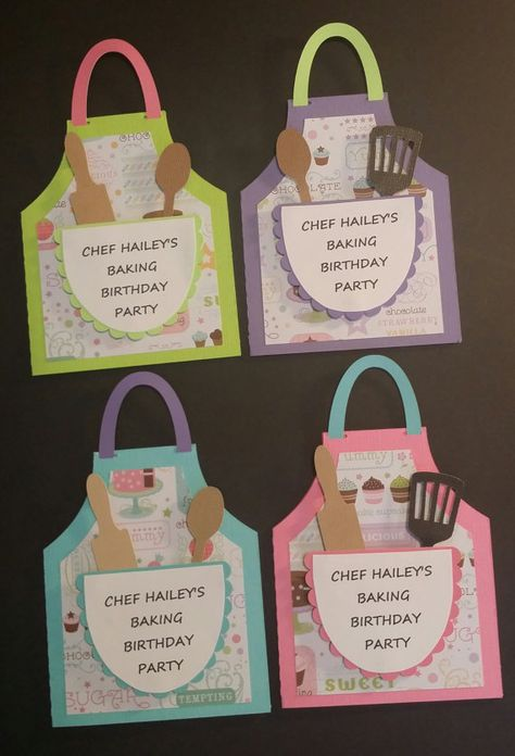 Baking Party Invitations Cooking Party by CreationsbyColett