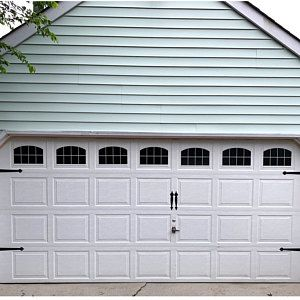 Garage Door Hinges And Handles Vinyl Decals Garage Vinyl Etsy Garage Doors Garage Door Hinges Garage Door Styles