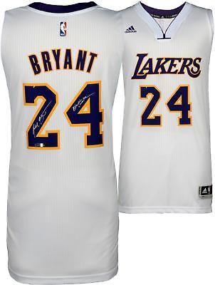 huge selection of ff399 d24c3 Kobe Bryant LA Lakers Signed White Adidas Jersey & Black ...