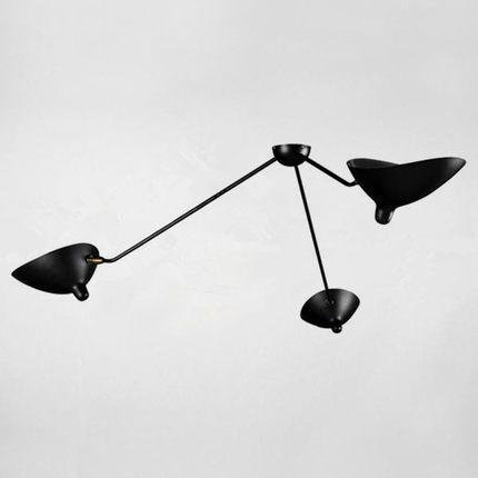 Gunstige Serge Mouille Schwarz Eisen Lampenschirm Deckenleuchten 3 Kopfe Replik Rotierenden Decke Lampe Fur Woh Serge Mouille Lamps Mouille Lamp Ceiling Lights