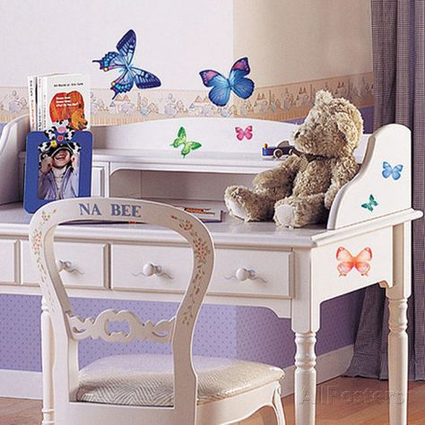 Vivid Colorful Butterflies Wall Decal at AllPosters.com
