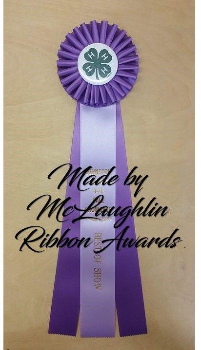 Vintage Horse Show Satin Ribbon Rosette Award Purple