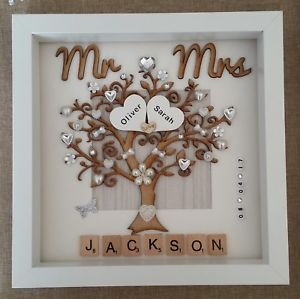 Handmade Personalised Wedding Day Mr Amp Mrs Box Frame Keepsake
